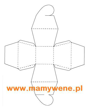 Szablon pudełka w kształcie serca - do pobrania