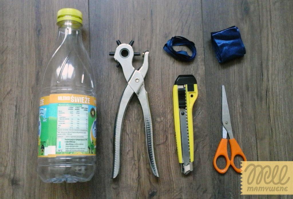 DIY pojemnik z butelki - potrzebne materiały