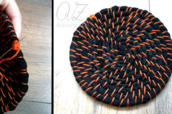 Jak zrobić podkładkę, dywanik z niepotrzebnych ubrań? Tutorial