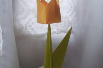 Kwiat w technice origami – tutorial