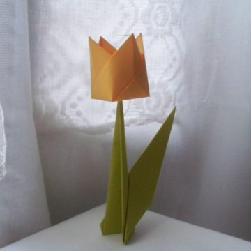 Kwiat w technice origami – tutorial