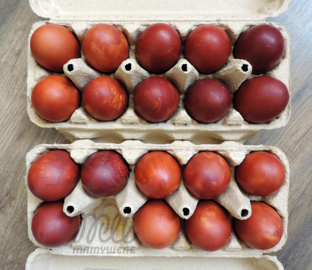 pisanki - kraszanki barwione w łupinach cebuli