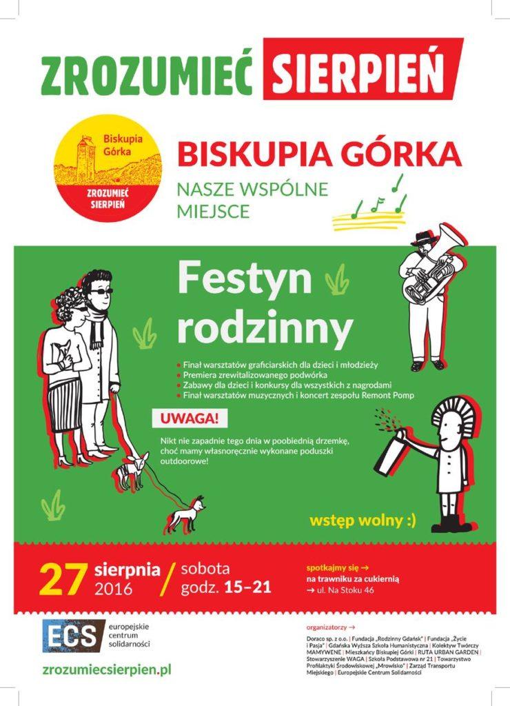 Zrozumieć Sierpień ECS Biskupia Górka - plakat