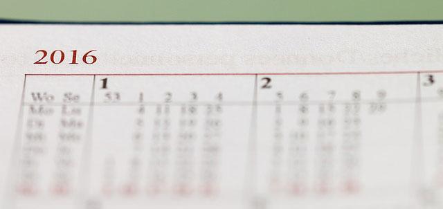 Kalendarz kartkowy 2016 Podsumowanie roku 2016