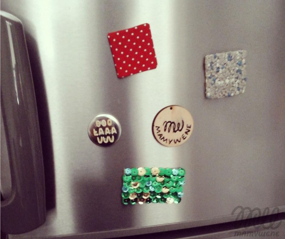 magnesy handmade na lodówce